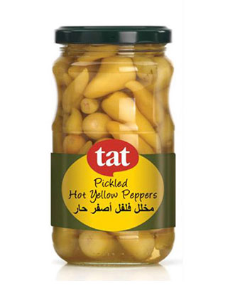 TAT Hot Yellow Pickled Pepper 330 grm Jar